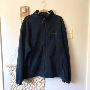 Columbia Men's XXL Navy Blue Zip Up Fleece Jacket